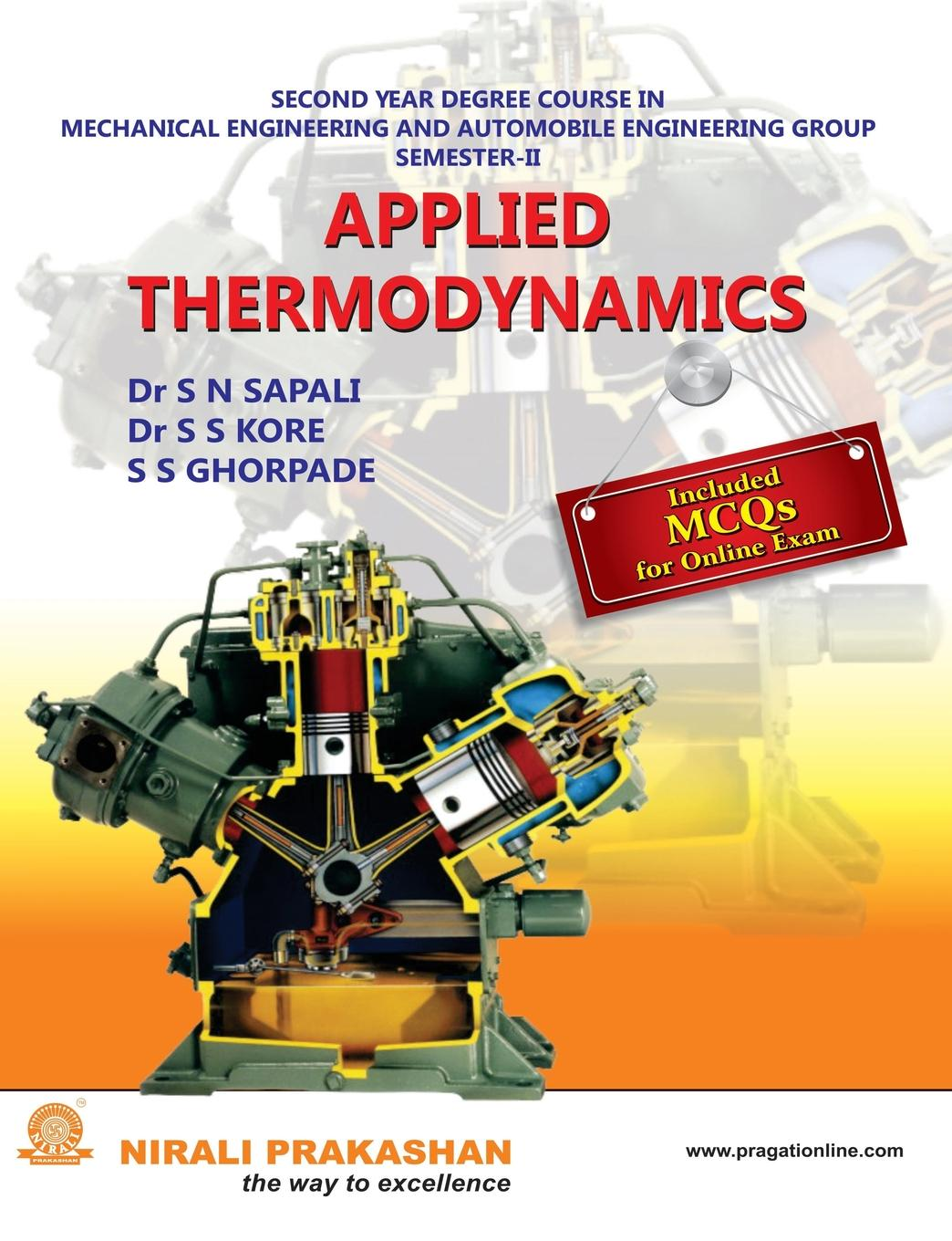 DR S S KORE, S S GHORPADE, DR S N SAPALI APPLIED THERMODYNAMICS ga202 mmc authentic and ic