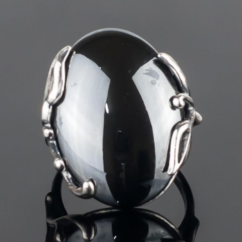 Кольцо бижутерное Мастерская Крутовых мк-8436_р.17,5, Бижутерный сплав, Гематит, серый