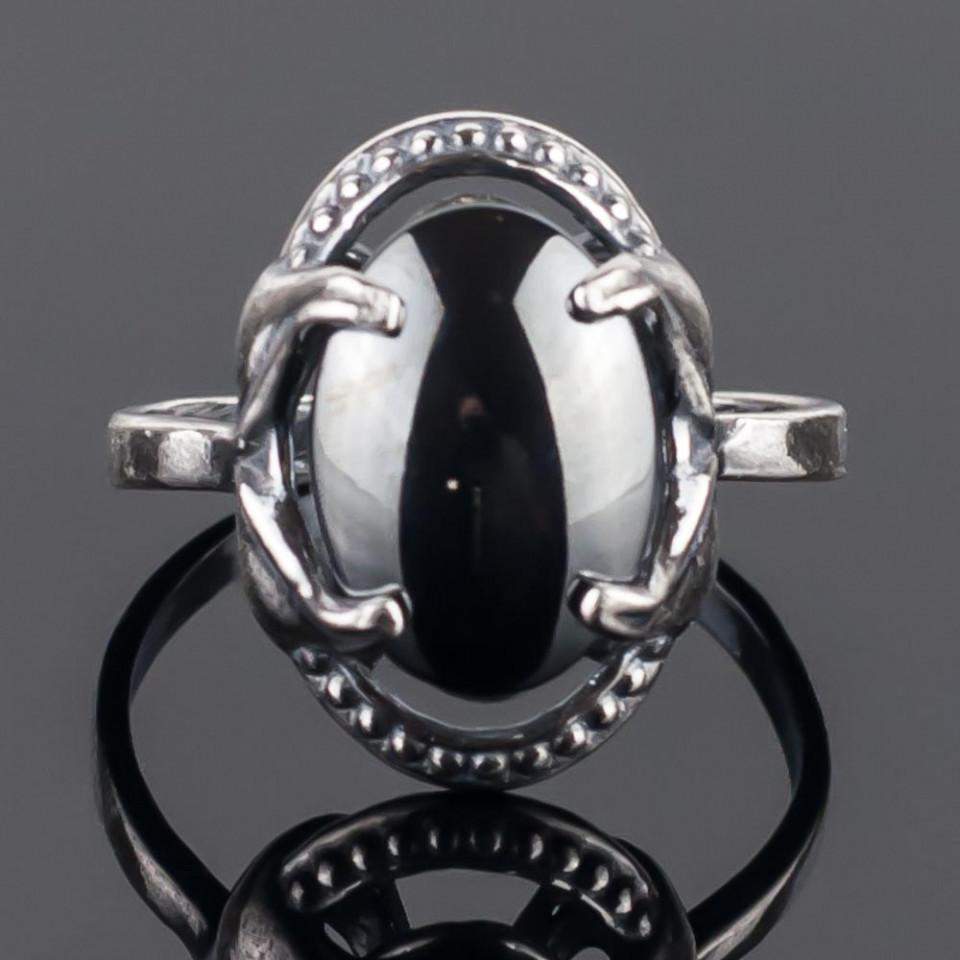 Кольцо бижутерное Мастерская Крутовых мк-8282_р.16,5, Бижутерный сплав, Гематит, серый