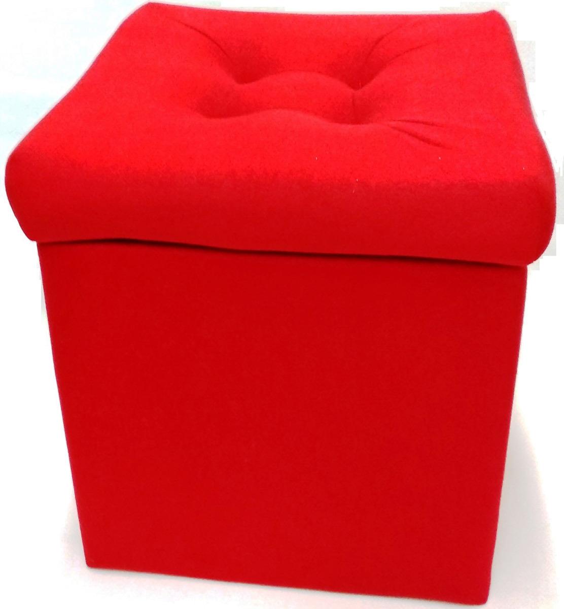 Пуф-короб Auto Premium, с крышкой, 57551, красный, 38 х 38 х 38 см пуф короб для хранения homemaster париж 76 х 38 х 38 см
