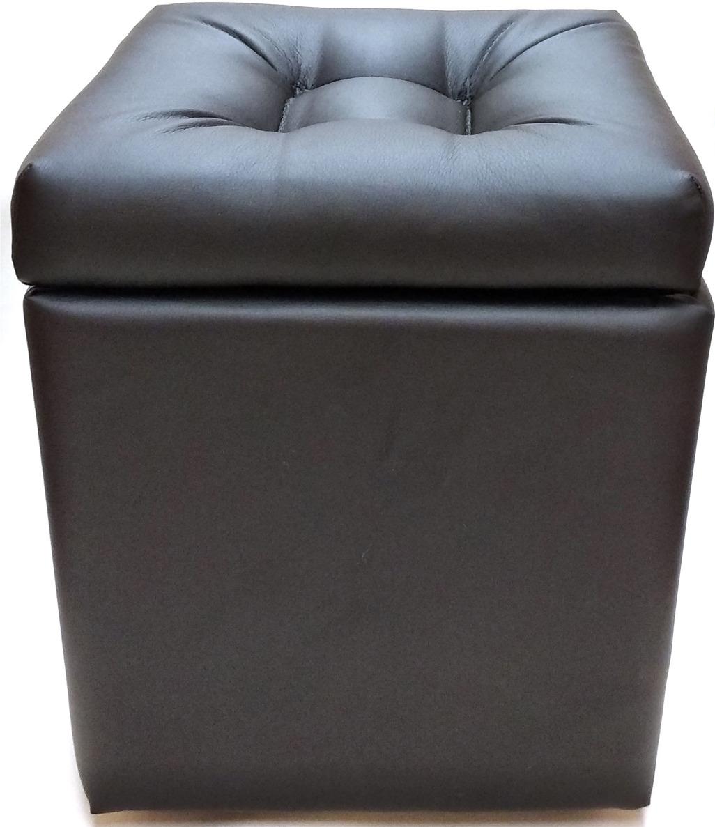 Пуф-короб Auto Premium, с крышкой, 57552, черный, 38 х 38 х 38 см пуф короб для хранения homemaster париж 76 х 38 х 38 см