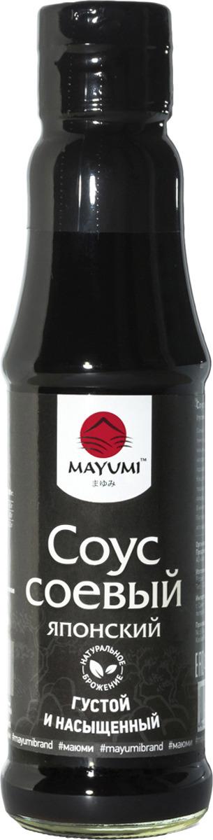 Соус Mayumi Японский соевый, 150 мл соевый соус без клейковины pearl river bridge слабосолёный 150 мл