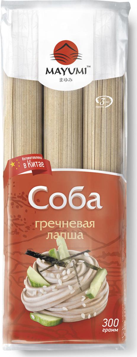 Лапша Mayumi Соба гречневая, 300 г
