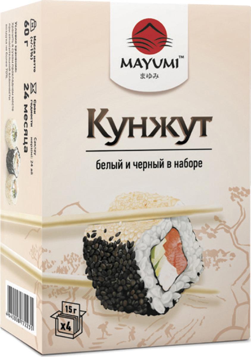 Кунжут Mayumi белый и черный, 60 г Mayumi
