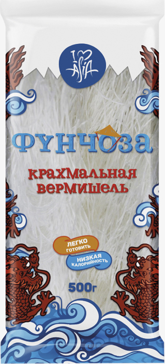 Лапша I Love Asia Фунчоза крахмальная, 500 г