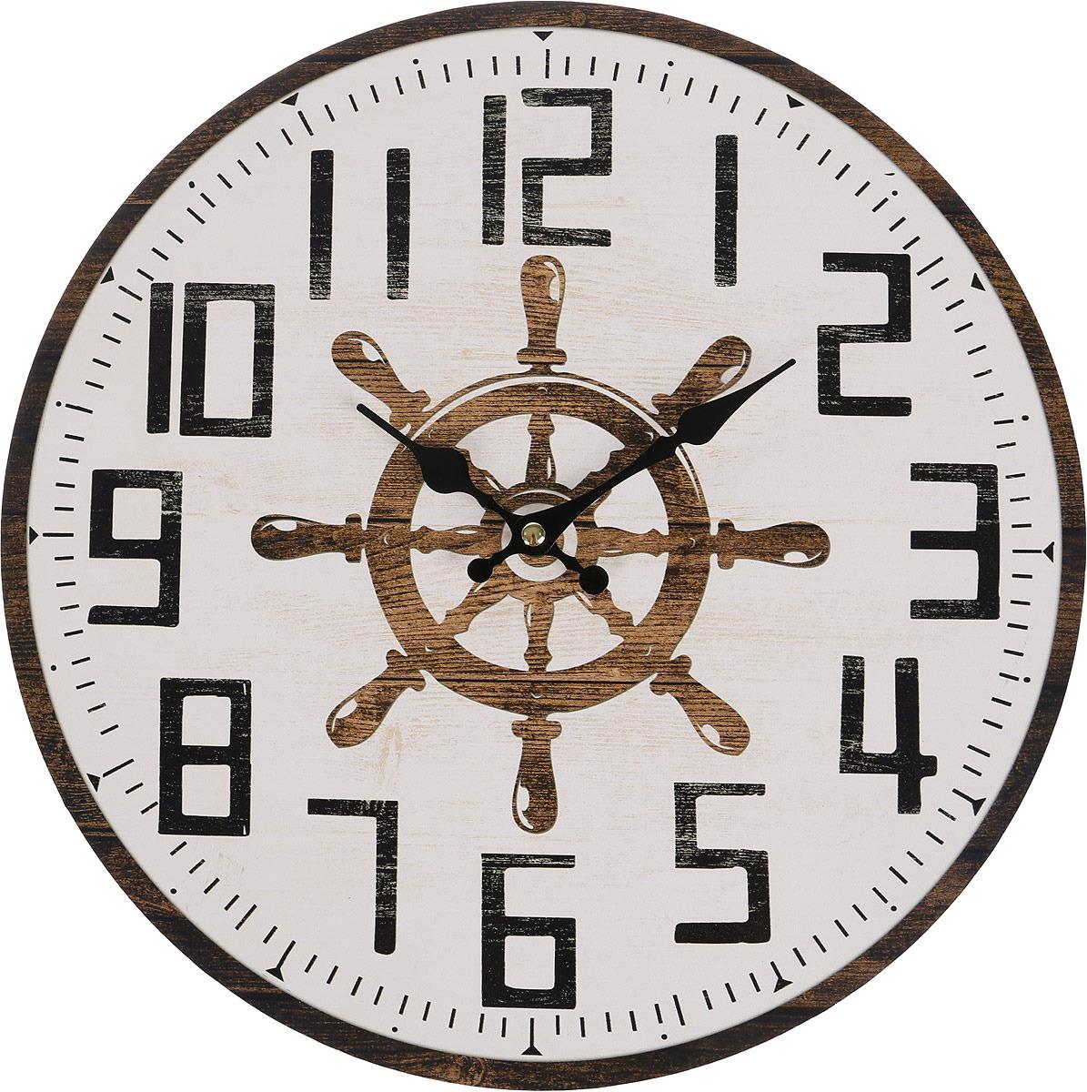 Настенные часы Русские подарки, 138638, мультиколор, 34 х 34 см все цены
