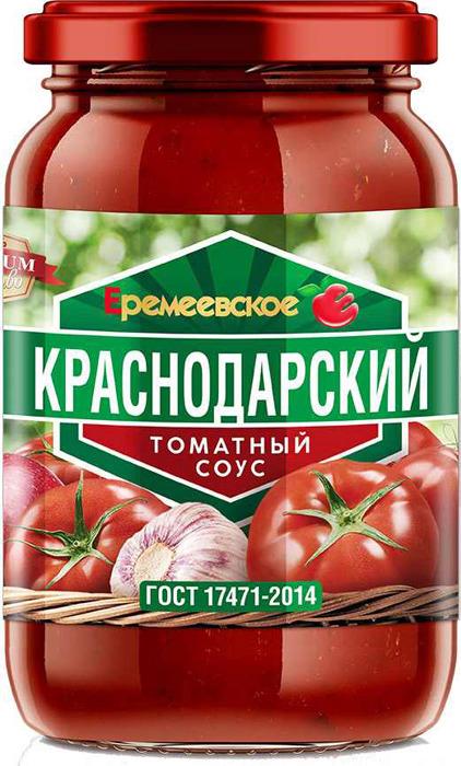 Соус Еремеевское Краснодарский томатный, 350 г romeo rossi соус томатный для пасты овощной 350 г