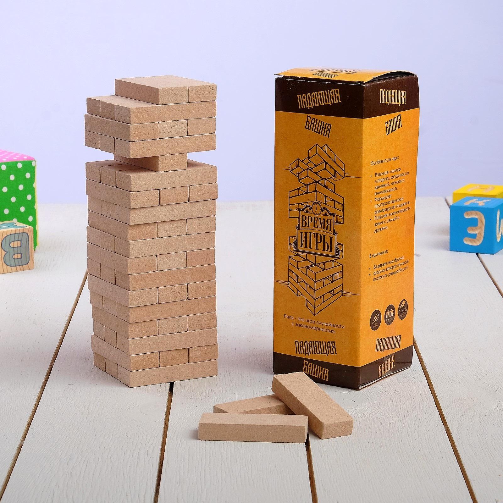 Настольная игра Сималенд Падающая башня Время игры игра настольная dream makers падающая башня