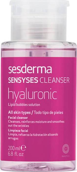 Липосомальный лосьон для снятия макияжа Sesderma Sensyses Cleanser Hyaluronic, увлажняющий антивозрастной, 200 мл