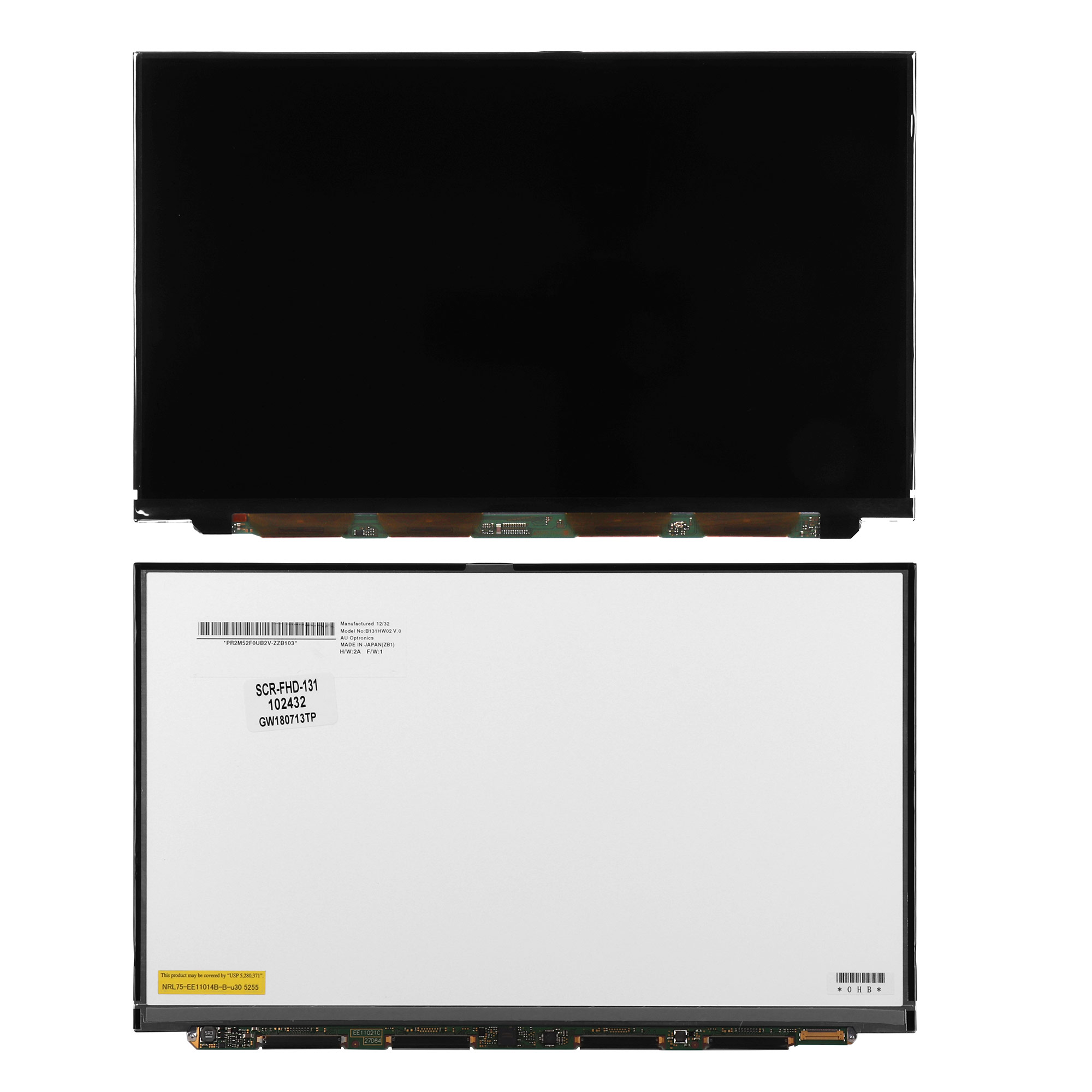 Запчасти для ремонта теле, видео, аудио 13.1 1920x1080 WUXGA FHD 30 pin Slim LED. Матовая. PN: B131HW02 V.0.