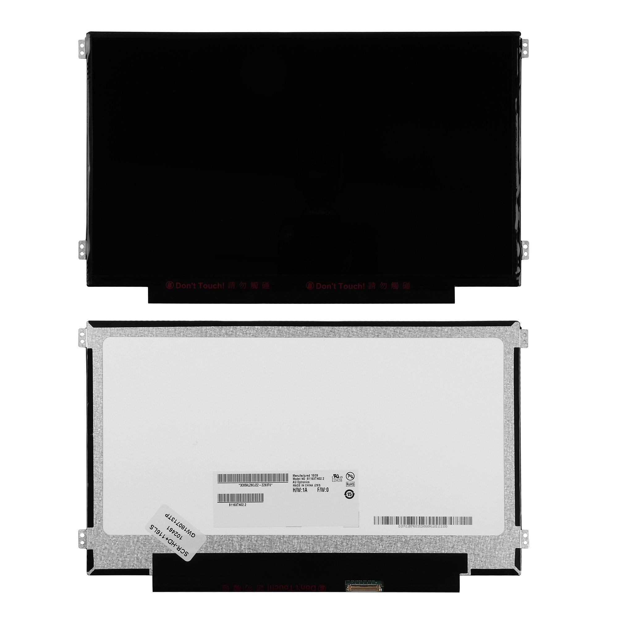 Запчасти для ремонта теле, видео, аудио 11.6 1366x768 WXGA 40 pin Slim LED крепления слева/справа (уши). PN: B116XTN02.2.