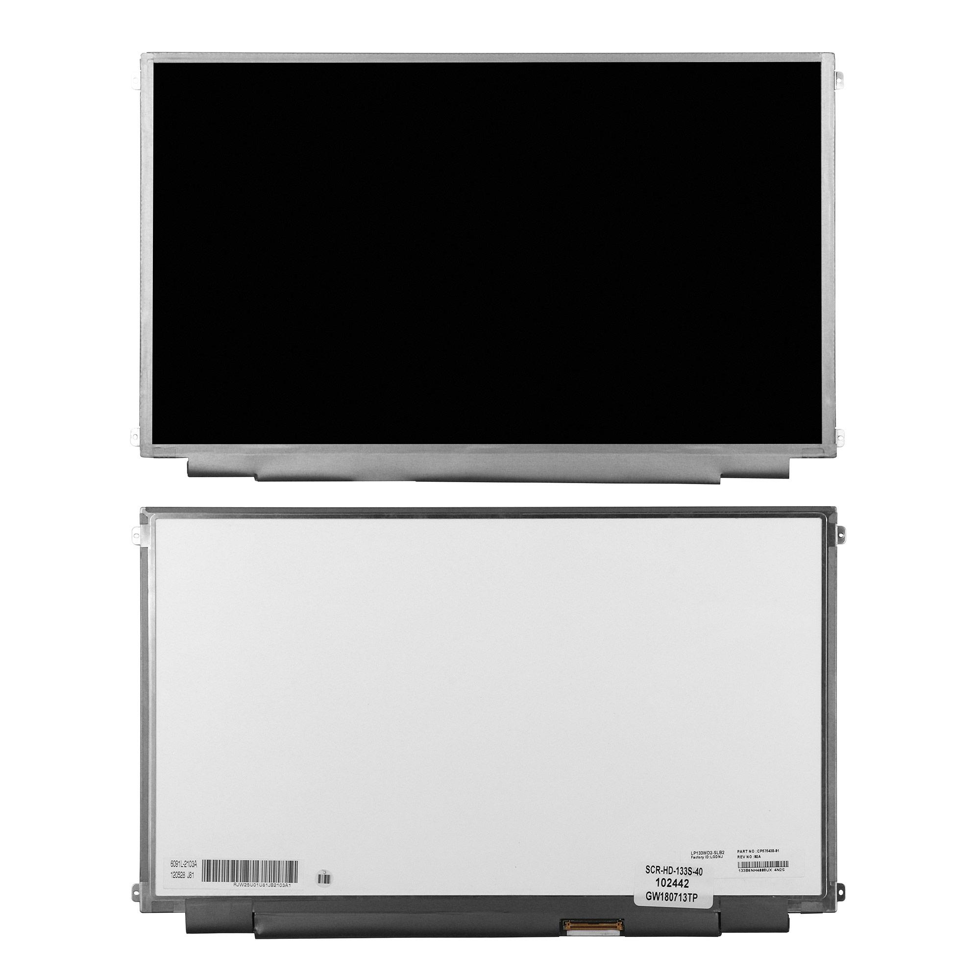 Запчасти для ремонта теле, видео, аудио 13.3 1600x900 HD+ 40 pin. Slim LED. Матовая. PN: LP133WD2 (SL)(B2).