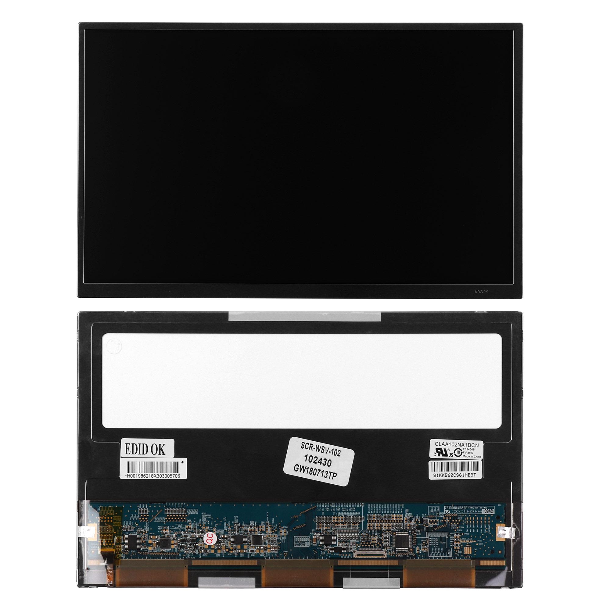 Запчасти для ремонта теле, видео, аудио 10.2 1024х600 WSVGA 30 pin LED. Матовая. PN: CLAA102NA1BCN