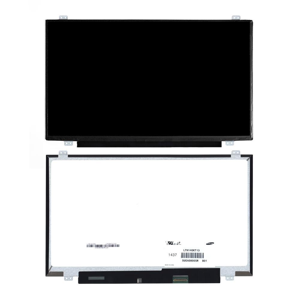 Запчасти для ремонта теле, видео, аудио 14 1920x1080 FHD 30 pin Slim LED крепления сверху/снизу (уши). Матовая. PN: LTN140KT13 LTN140KT13-301.