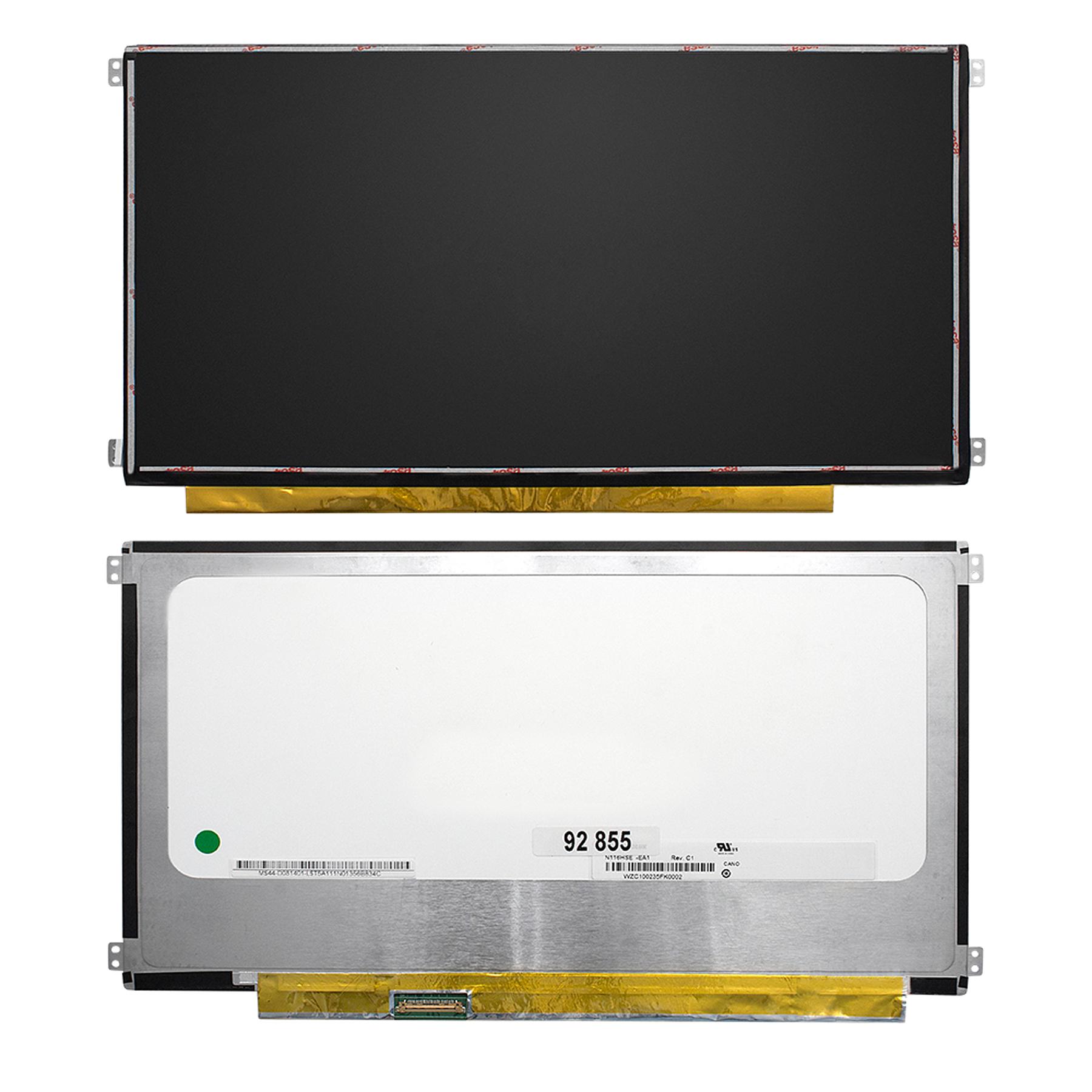 Запчасти для ремонта теле, видео, аудио 11.6 1920x1080 FHD 30 pin Slim IPS крепления слева/справа (уши). Матовая. PN: N116HSE-EA1.