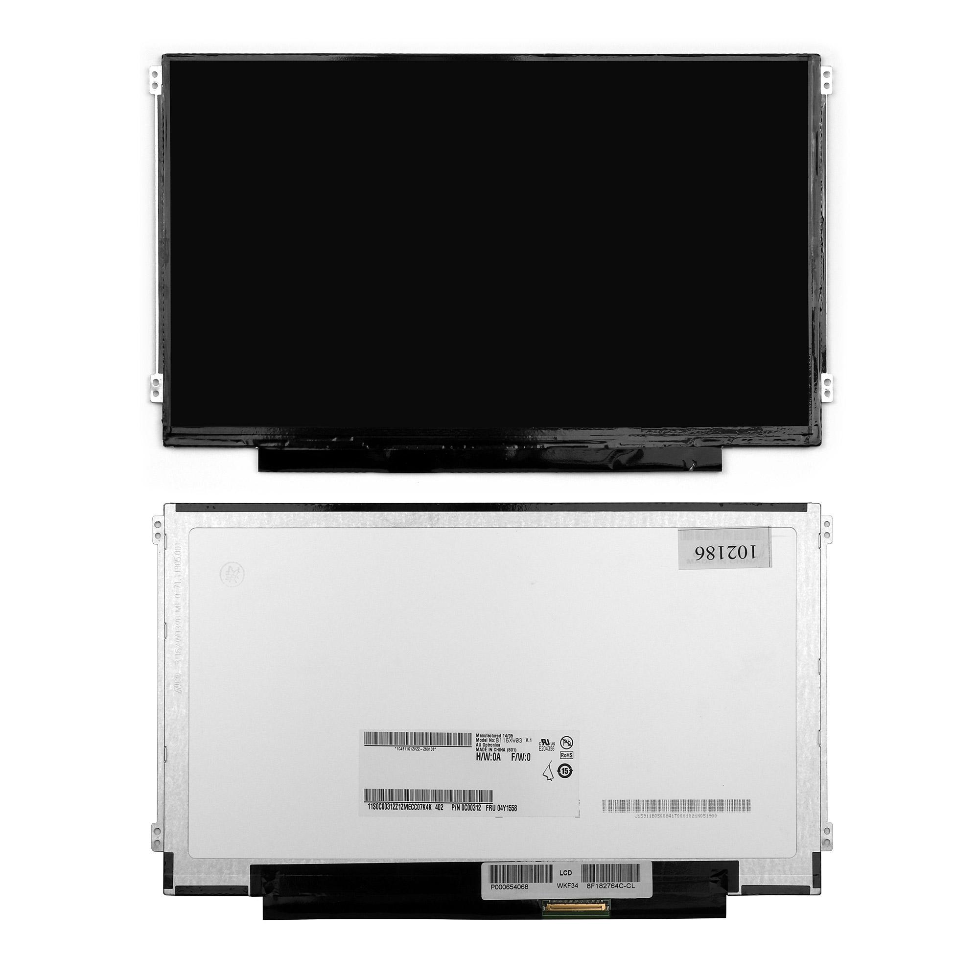 Запчасти для ремонта теле, видео, аудио 11.6 1366x768 WXGA 40 pin Slim LED крепления слева/справа (уши). Матовая. PN: N116BGE-L42.