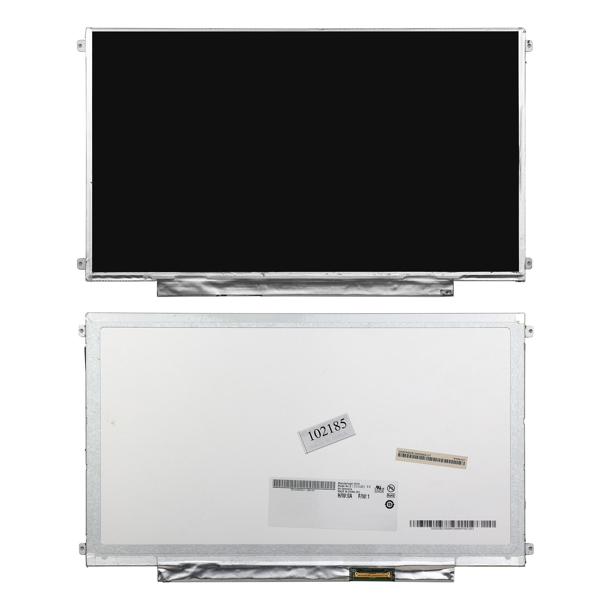 Запчасти для ремонта теле, видео, аудио 13.3 1366x768 WXGA 40 pin Slim LED крепления слева/справа (уши). Матовая. PN: B133XW01 V.2 N133BGE-LB1.