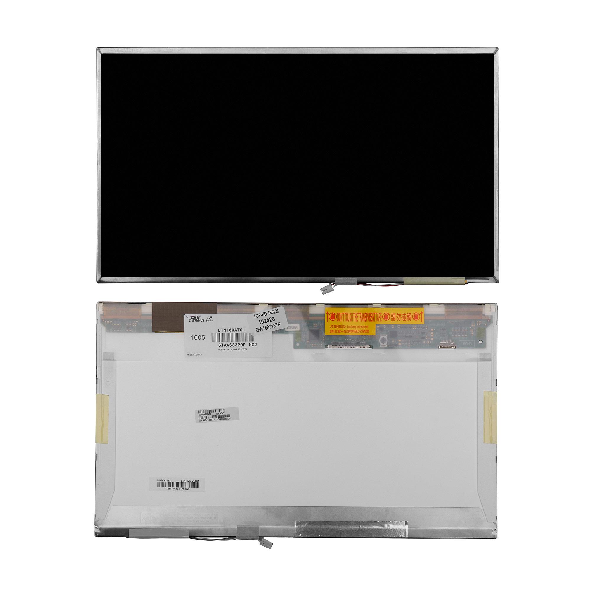 Запчасти для ремонта теле, видео, аудио 16 1366x768 WXGA 30 pin 1-CCFL. Глянцевая. PN: LTN160AT02