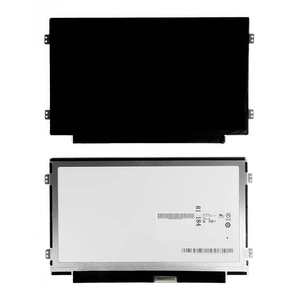 Матрица для ноутбука 10.1 1024x600 WSVGA, 40 pin Slim LED, крепления слева/справа (уши), Глянцевая. PN: B101AW06 V.0.