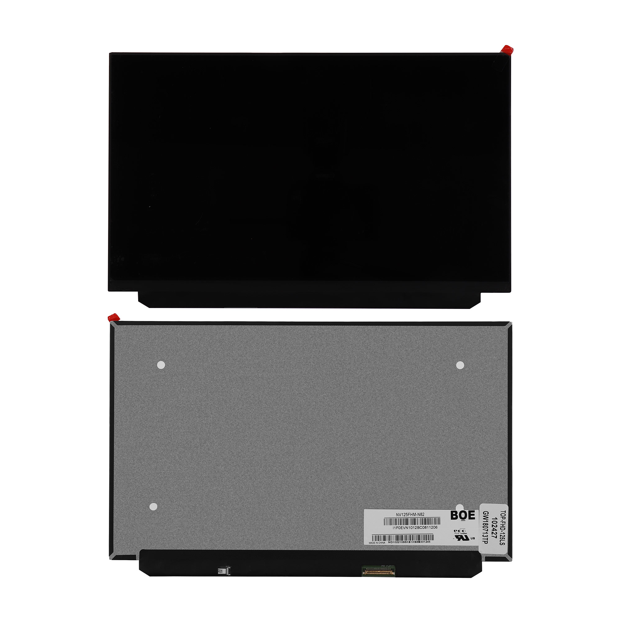 Запчасти для ремонта теле, видео, аудио 12.5 1920 x 1080 WUXGA FHD 30 pin LED Slim. Матовая. Замена: NV125FHM-N82.