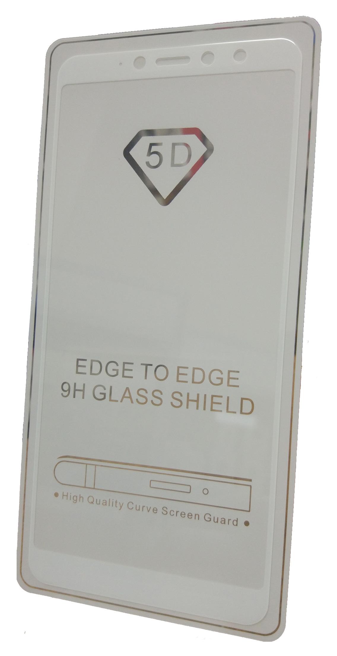 Защитное стекло Xiaomi Redmi S2 (полная проклейка белая рамка), белый