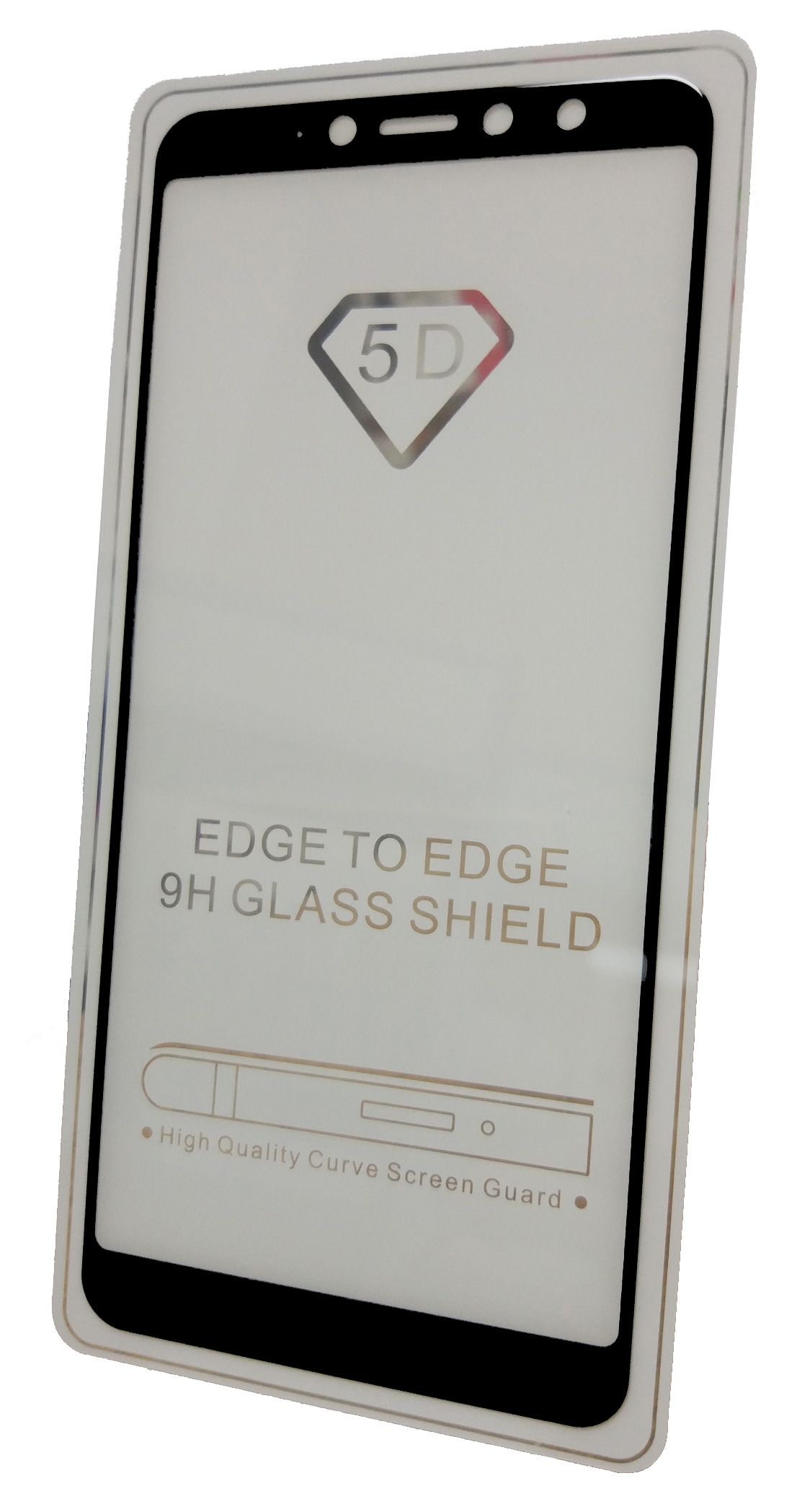 Защитное стекло Xiaomi Redmi S2 (полная проклейка черная рамка), черный