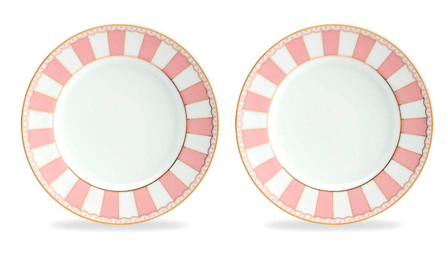 Тарелка десертная Noritake Карнавал, розовый