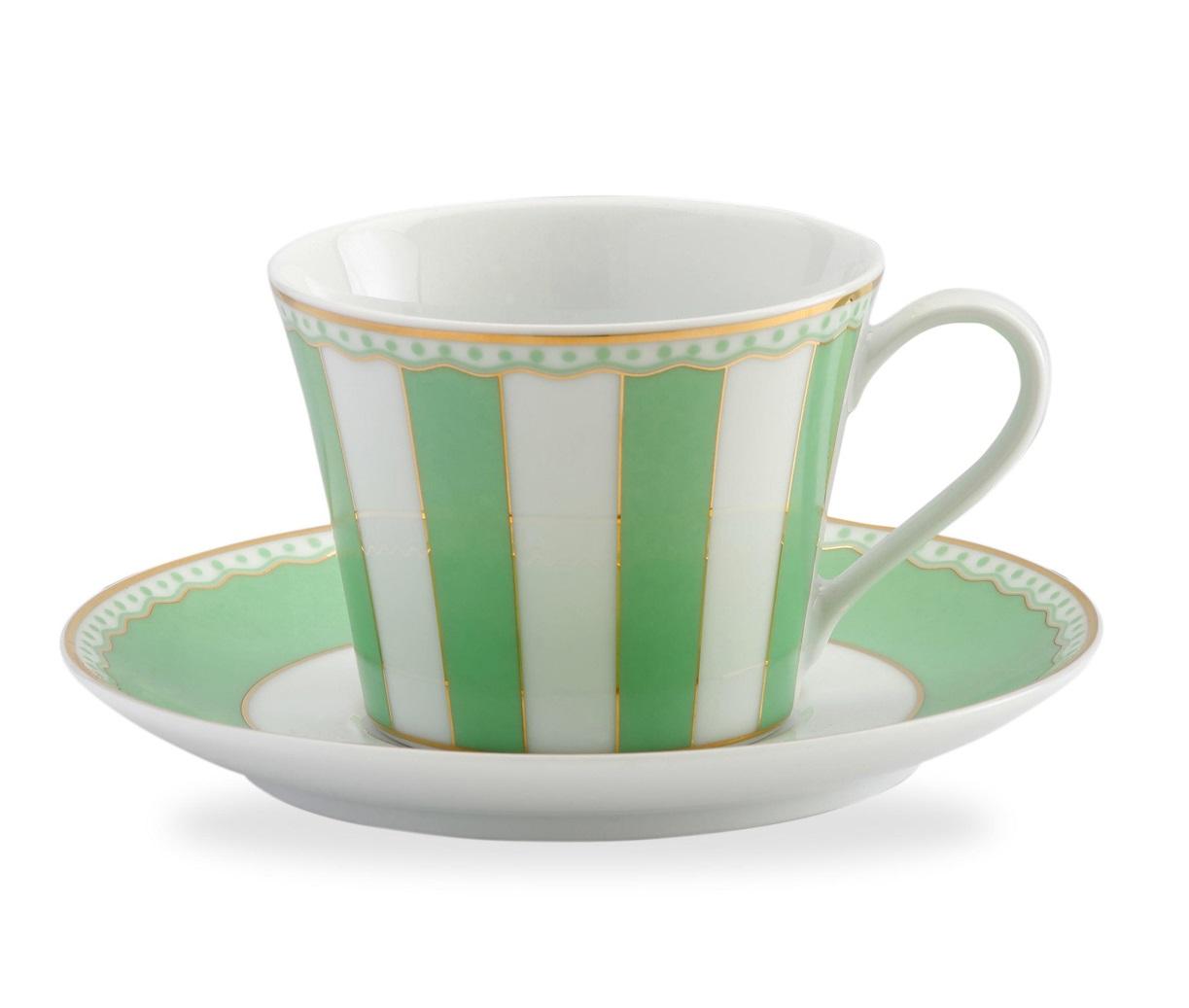 """Чайная пара Noritake Карнавал, зеленыйNOR0M252-T002BЯркая подарочная фарфоровая коллекция """"Карнавал"""" от Noritake это все что нужно для чаепития. Подарочная упаковка. Не использовать средства для чистки, мыть в мыльной воде."""