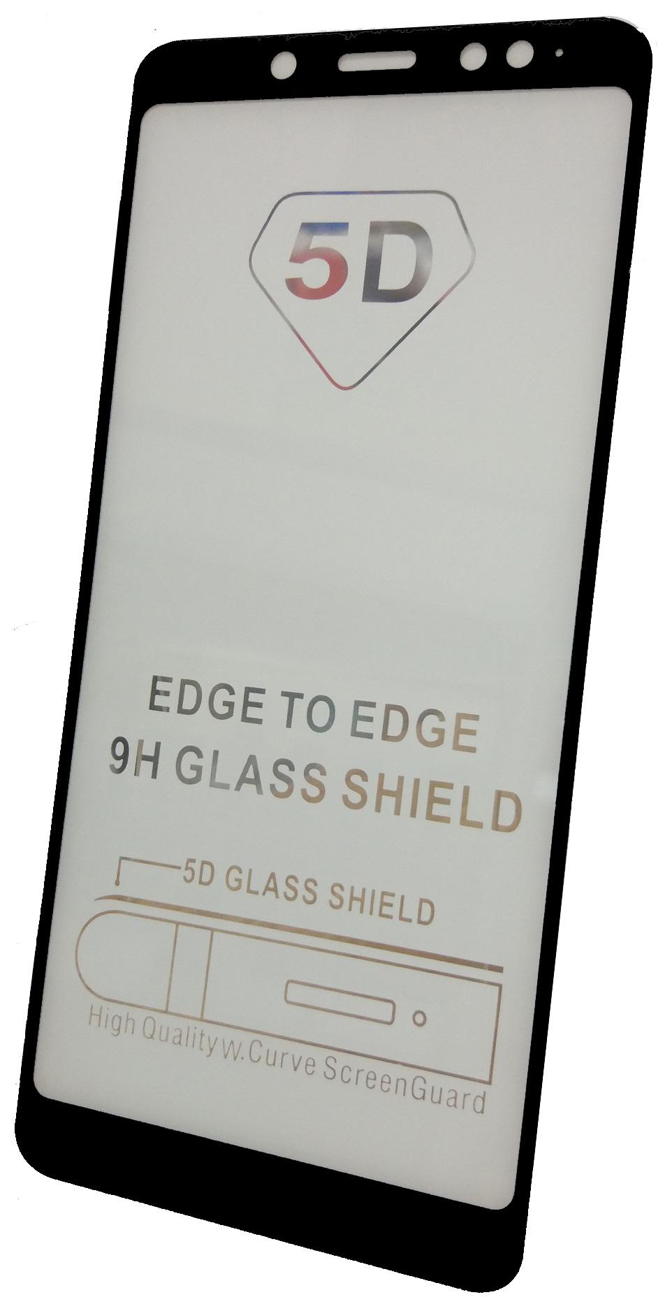 Защитное стекло Xiaomi Redmi Note 5 PRO (Full Glue черная рамка), черный защитное стекло skinbox full screen для xiaomi redmi note 5 pro с рамкой черный