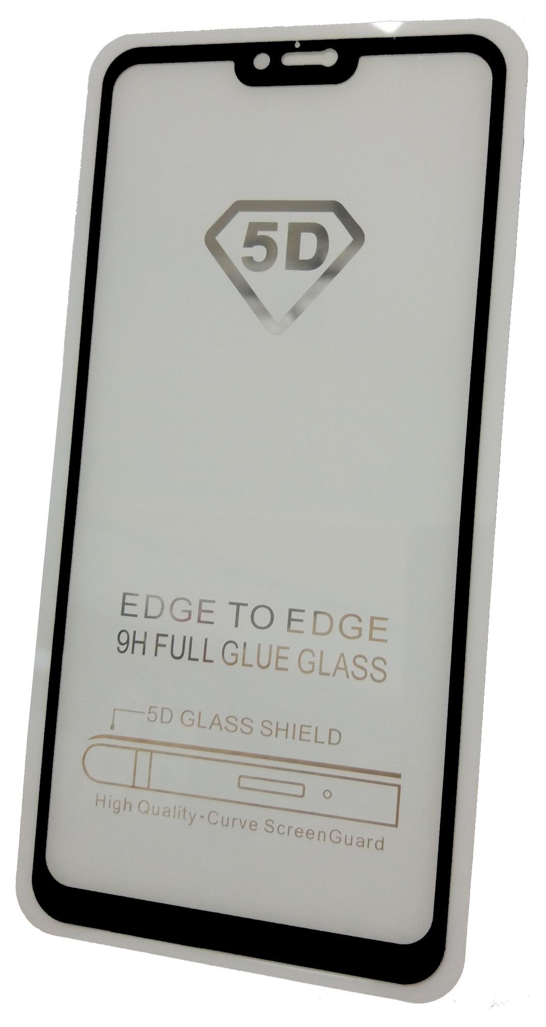 Защитное стекло Xiaomi Redmi Note 6 (Full Glue черная рамка), черный