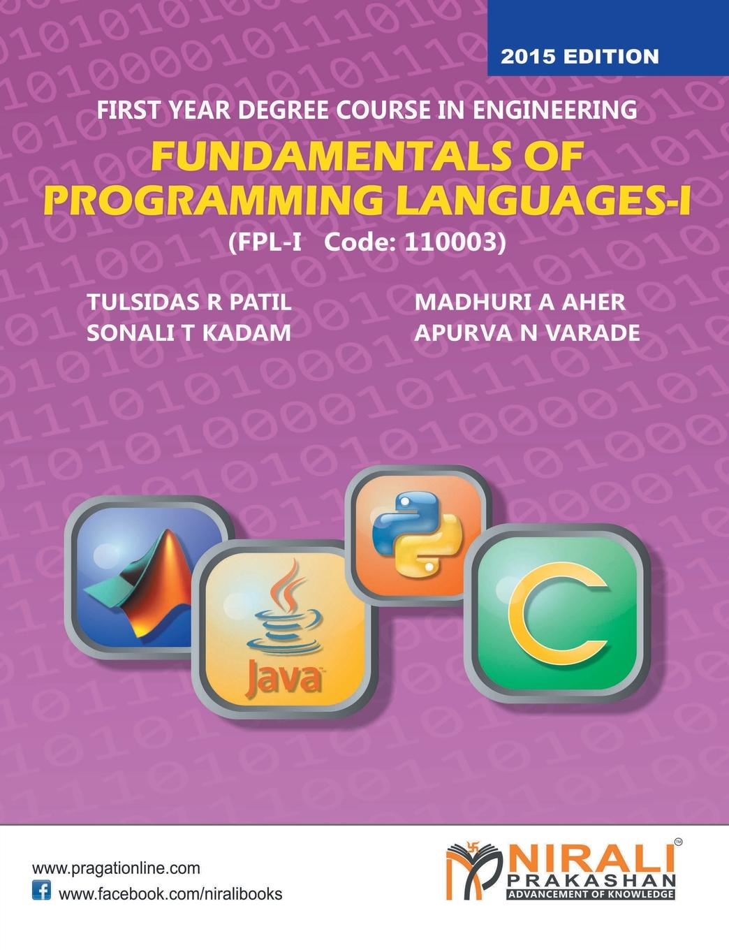 T R PATIL, A N VARADE, S T KADAM FUNDAMENTALS OF PROGRAMMING LANGUAGES - I imports of ic test seat qfp80 programming conversion adapter burn otq 80 0 8 03