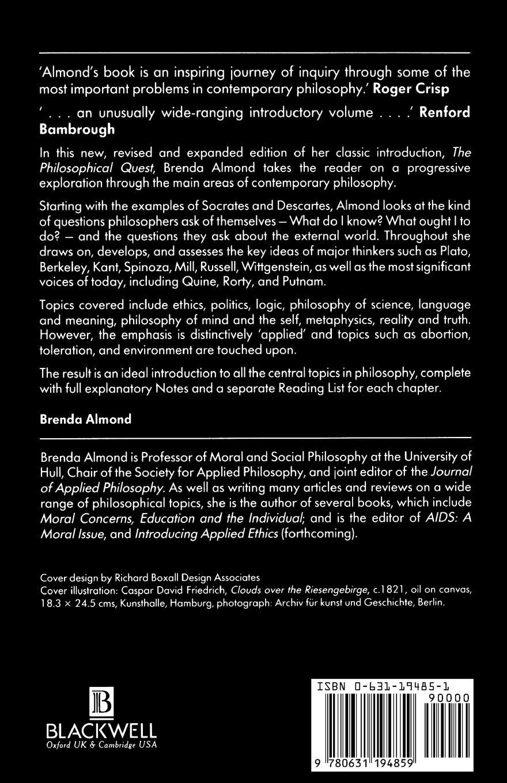 Brenda Almond Exploring Philosophy. The Philosophical Quest the unicorn quest