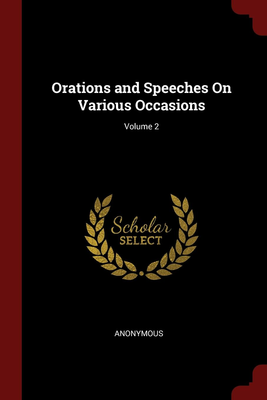 M. labbé Trochon Orations and Speeches On Various Occasions; Volume 2