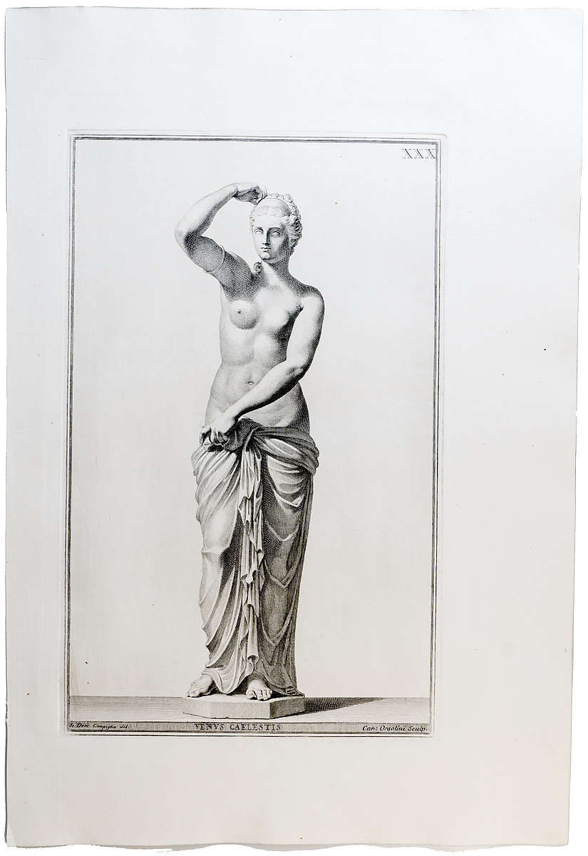 Гравюра Небесная нимфа. Западная Европа середина XVIII века