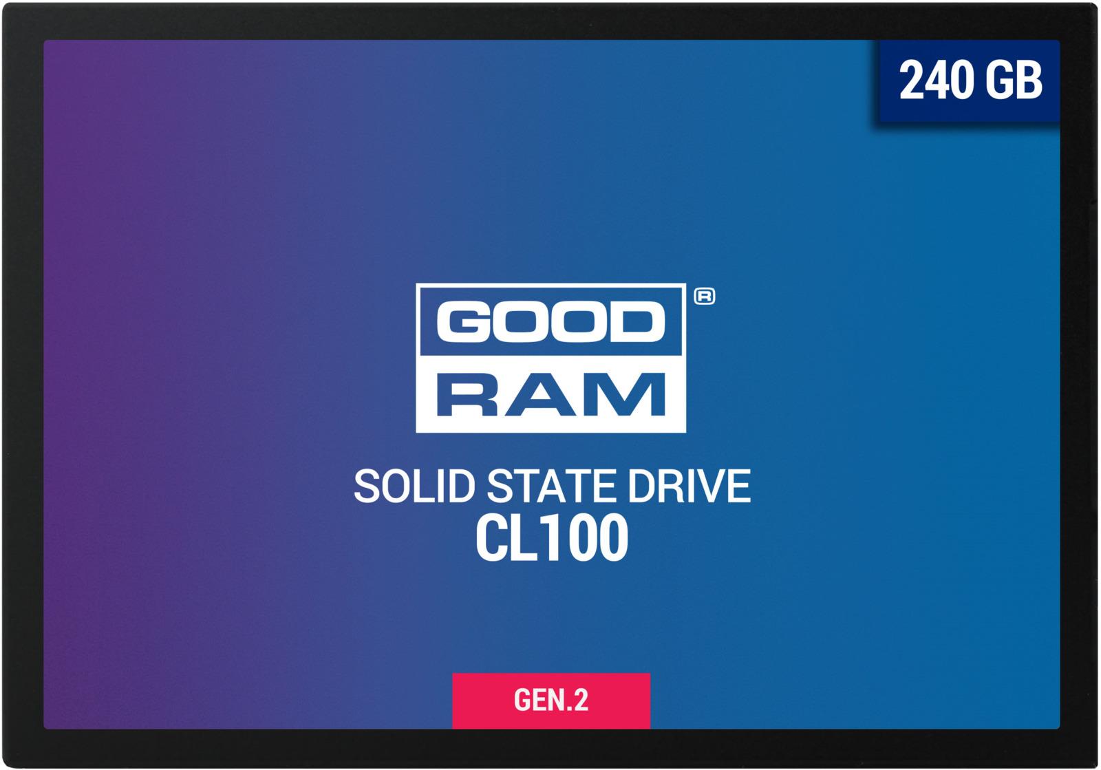 SSD диск GOODRAM CL100 gen.2, 240 ГБ