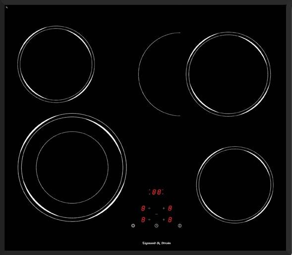 Варочная панель CNS 159.60 BX, черный