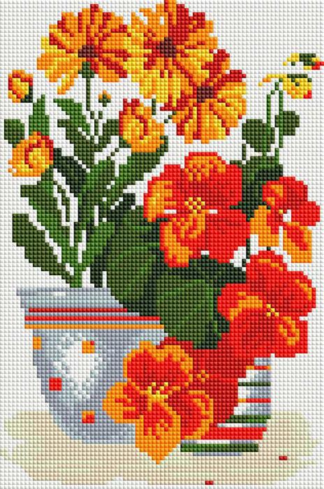 Набор для создания мозаики Белоснежка Солнечные цветы набор для творчества тм белоснежка набор бумаги яркие цветы 30 5 30 5см