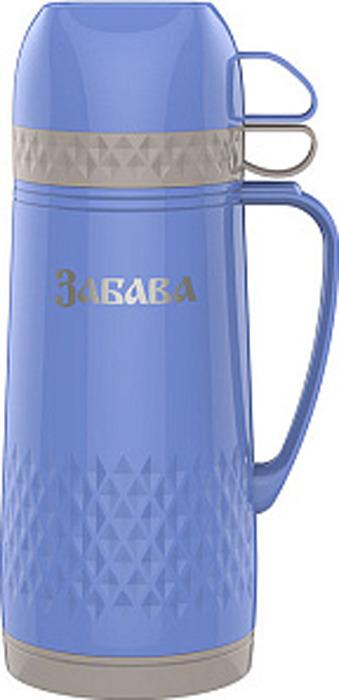 Термос Забава, РК-1001, голубой, серый, 1 л