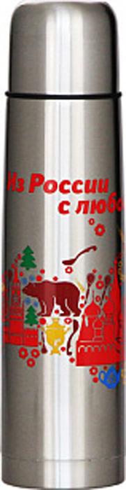 Термос Забава Россия, РК-0751М, серебристый, 750 мл