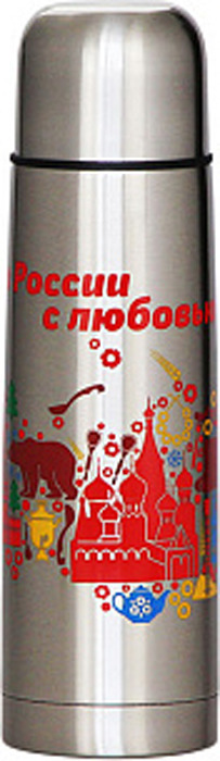 Термос Забава Россия, РК-1005М, серебристый, 1 л