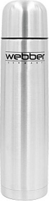 Термос Webber, SS-1200P, серебристый, 1,2 л