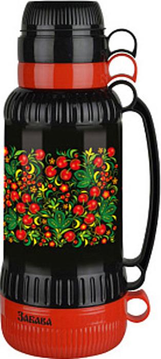 Фото - Термос Забава Вишня, РК-1808, красный, черный, 1,8 л [супермаркет] jingdong геб scybe фил приблизительно круглая чашка установлена в вертикальном положении стеклянной чашки 290мла 6 z