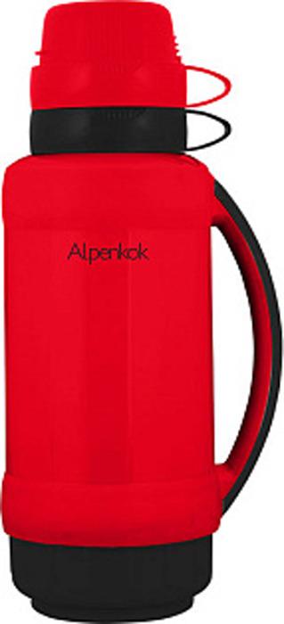 Фото - Термос Alpenkok, AK-10025S, красный, черный, 1 л [супермаркет] jingdong геб scybe фил приблизительно круглая чашка установлена в вертикальном положении стеклянной чашки 290мла 6 z