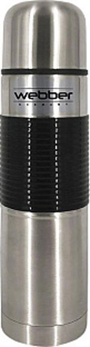 Термос Webber, SSR-1000P, серебристый, черный, 1 л