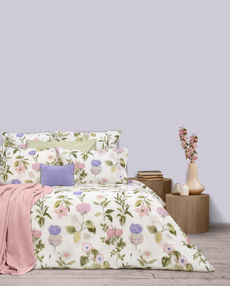 Комплект постельного белья S&J Лесная поляна, 22030118445, зеленый, евро, наволочки 70x70 кпб арт 21 0002 зеленый р евро