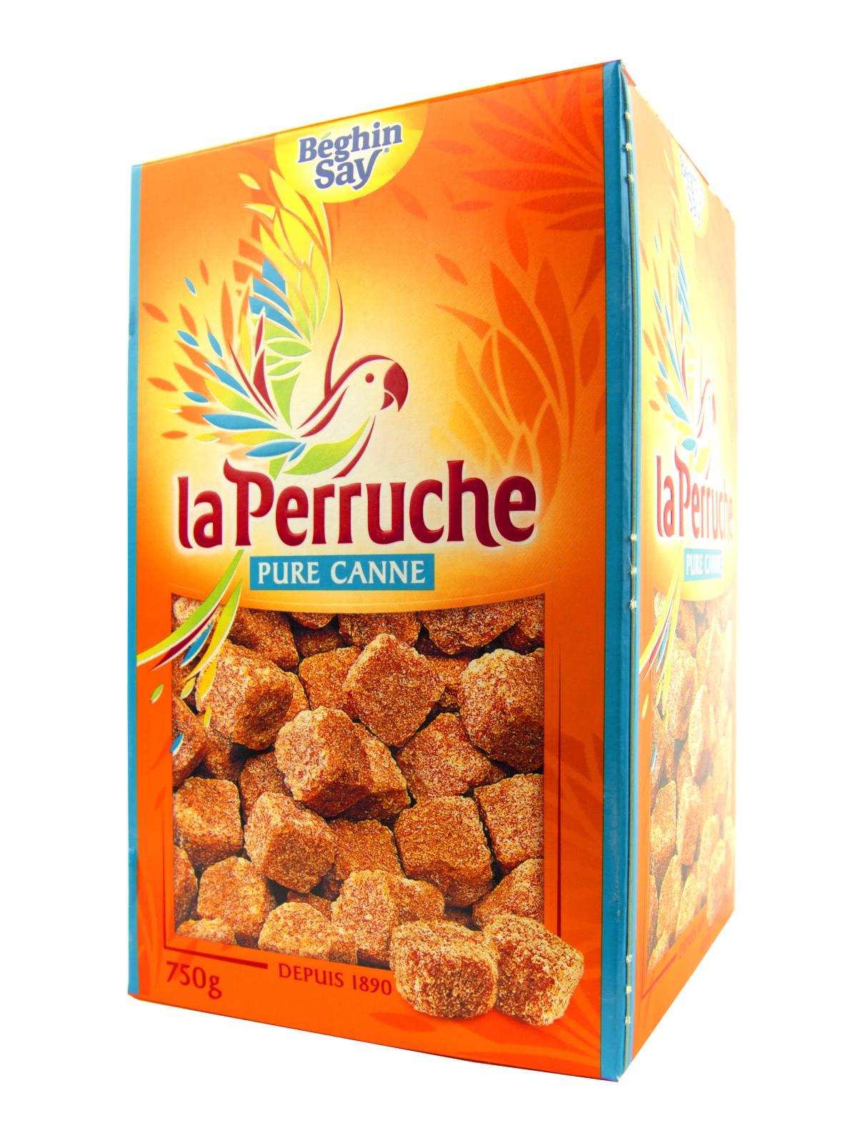 Сахар Beghin Say колотый тростниковый коричневый La Perruche 750 г., Франция