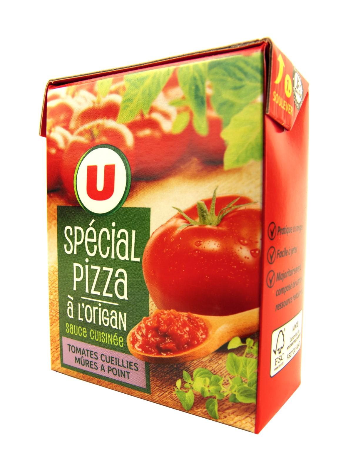 Соус U Томатный для пиццы с орегано 390г, Франция