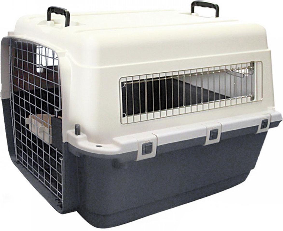 "Переноска для собак Triol ""Premium Extra Large"", цвет: серый, 900 x 600 x 680 мм"