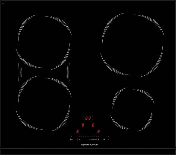 Варочная панель CIS 189.60 BK, черный