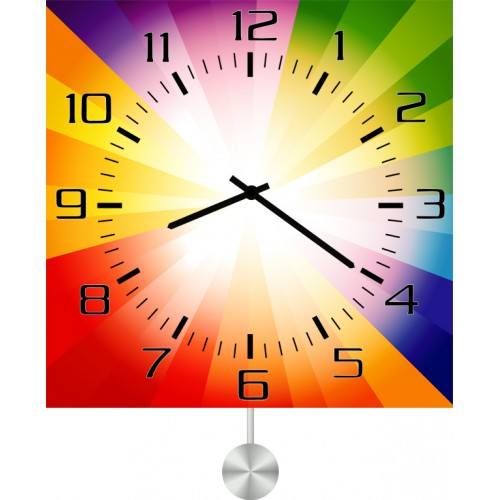 Настенные часы Kitch Art 40117994011799Настенные часы с маятником. Модель для современного интерьера. Механизм: Кварцевый. Корпус: Дерево. Размер: Диаметр 40 см. Рисунок: Часы-радуга